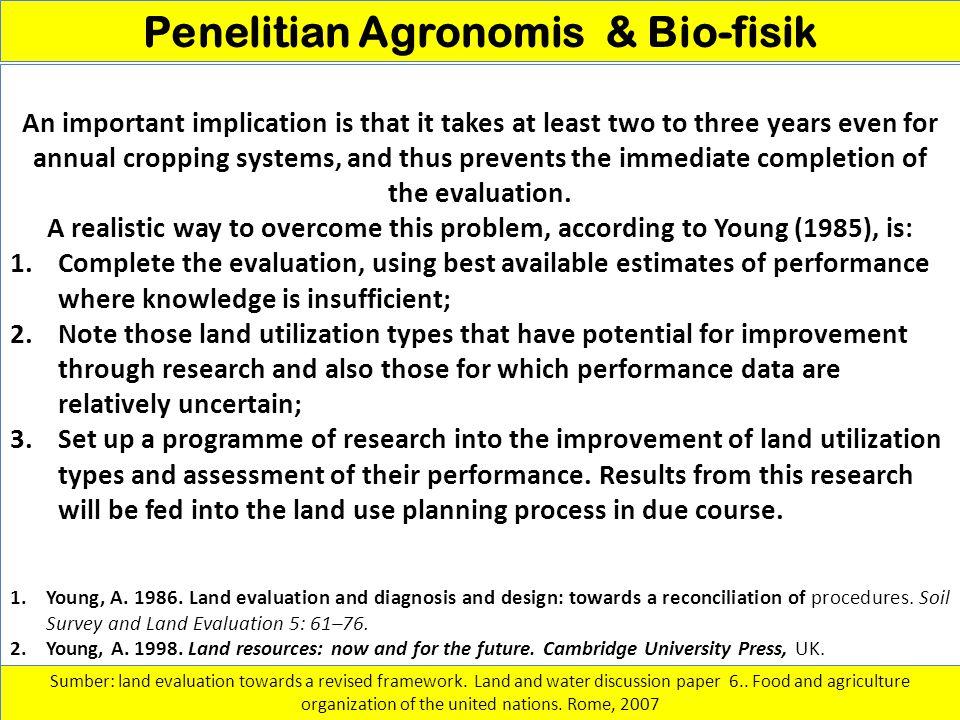 Penelitian Agronomis & Bio-fisik