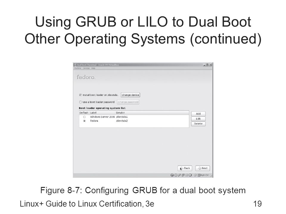 Using GRUB or LILO to Dual Boot Other Operating Systems (continued)