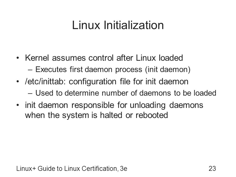 Linux Initialization Kernel assumes control after Linux loaded