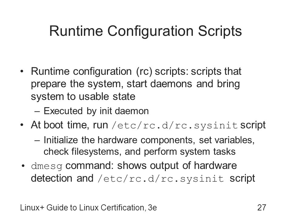 Runtime Configuration Scripts