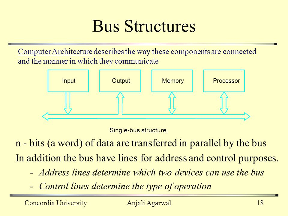 Bus Structures Computer Architecture describes the way these components are connected and the manner in which they communicate.