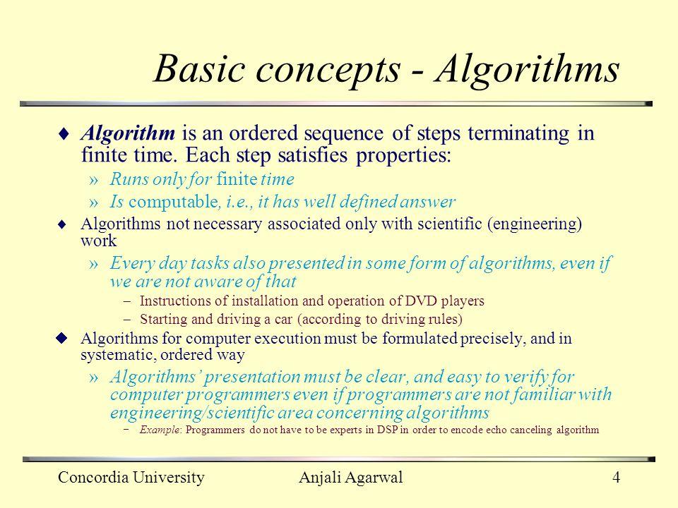Basic concepts - Algorithms