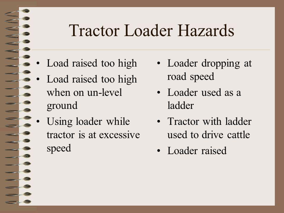 Tractor Loader Hazards