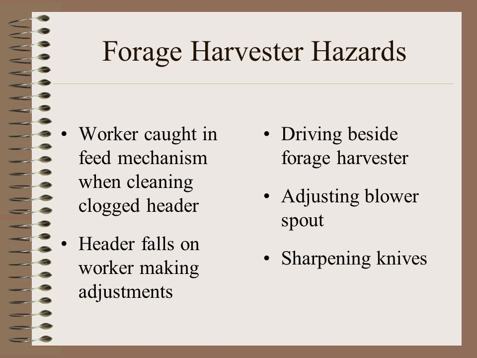 Forage Harvester Hazards