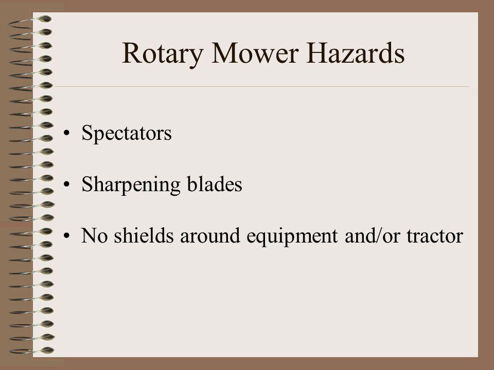 Rotary Mower Hazards Spectators Sharpening blades