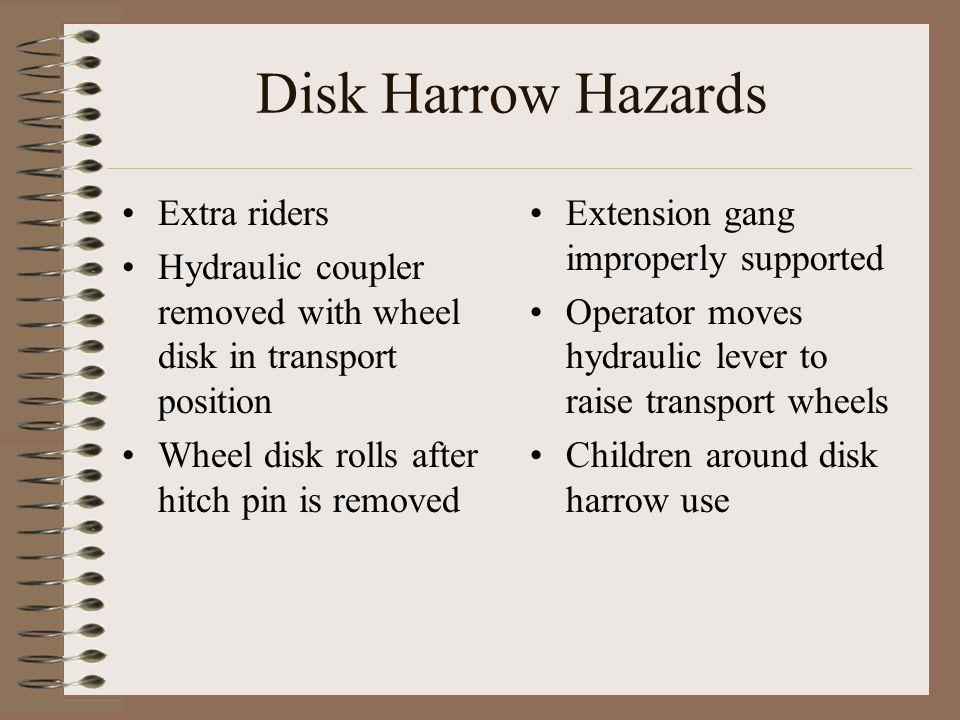 Disk Harrow Hazards Extra riders