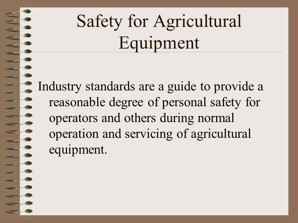 Safety for Agricultural Equipment