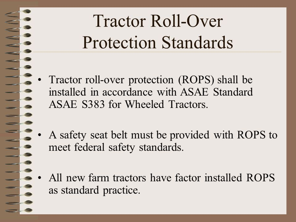 Tractor Roll-Over Protection Standards