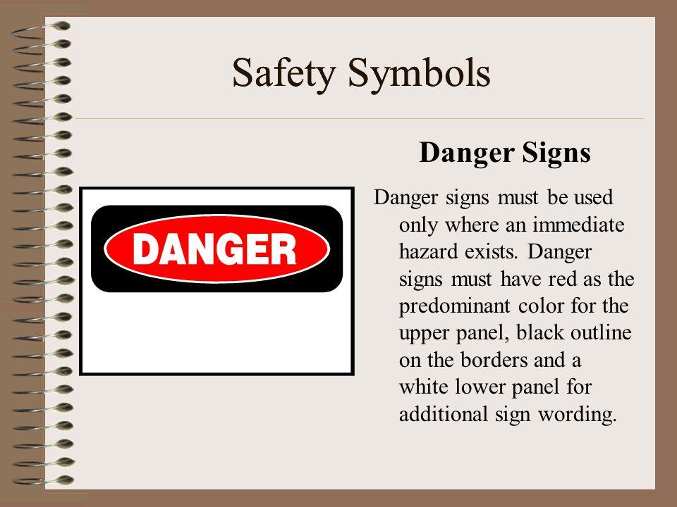 Safety Symbols Safety Symbols Danger Signs