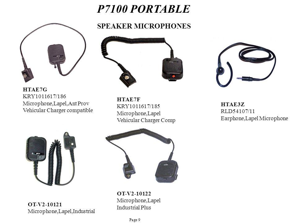 P7100 PORTABLE SPEAKER MICROPHONES HTAE7G KRY1011617/186