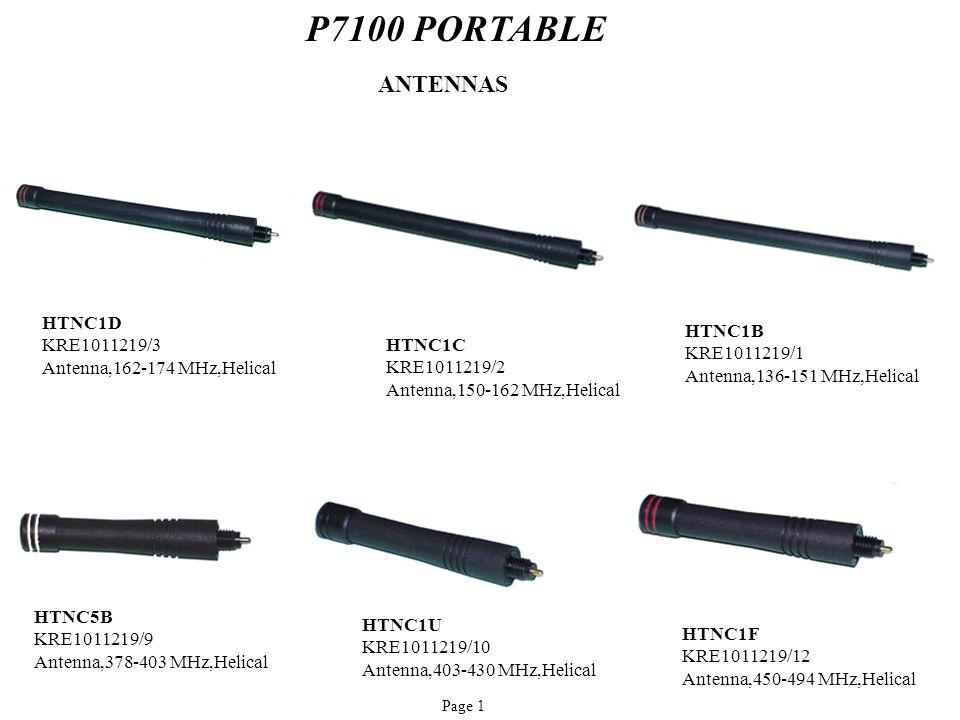 P7100 PORTABLE ANTENNAS HTNC1D KRE1011219/3 HTNC1B HTNC1C KRE1011219/1