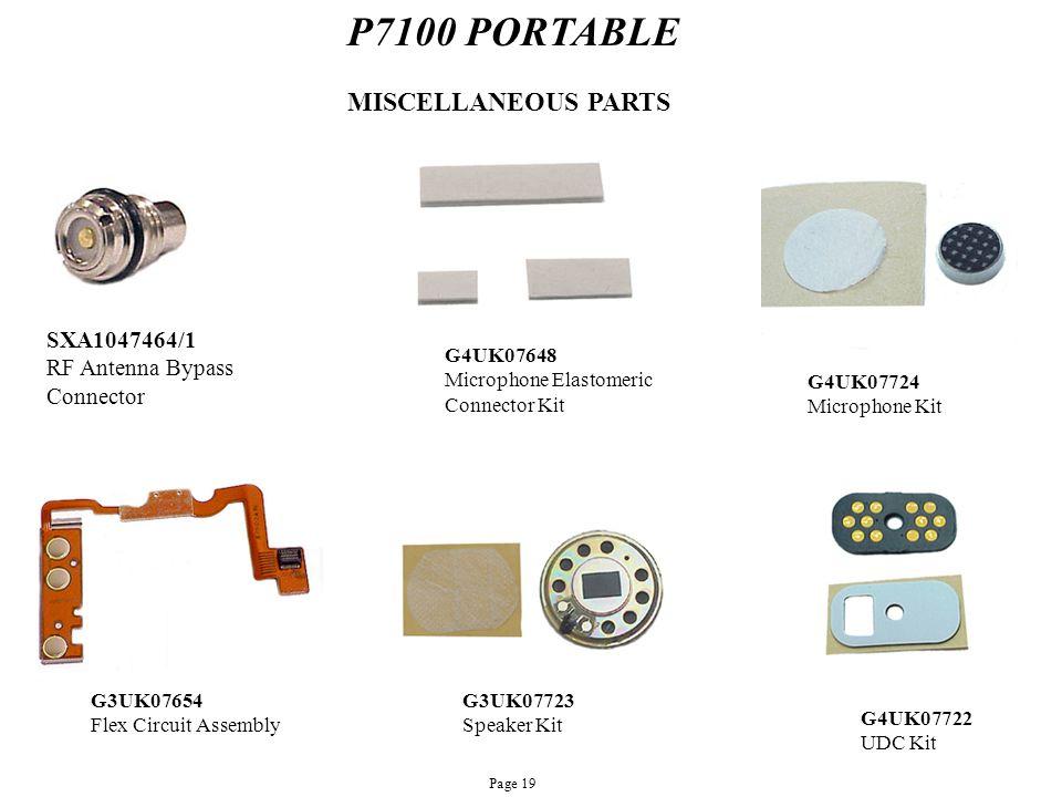 P7100 PORTABLE MISCELLANEOUS PARTS SXA1047464/1 RF Antenna Bypass