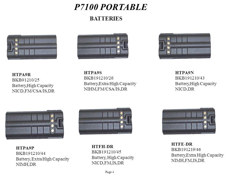 P7100 PORTABLE BATTERIES HTPA9S BKB191210/26