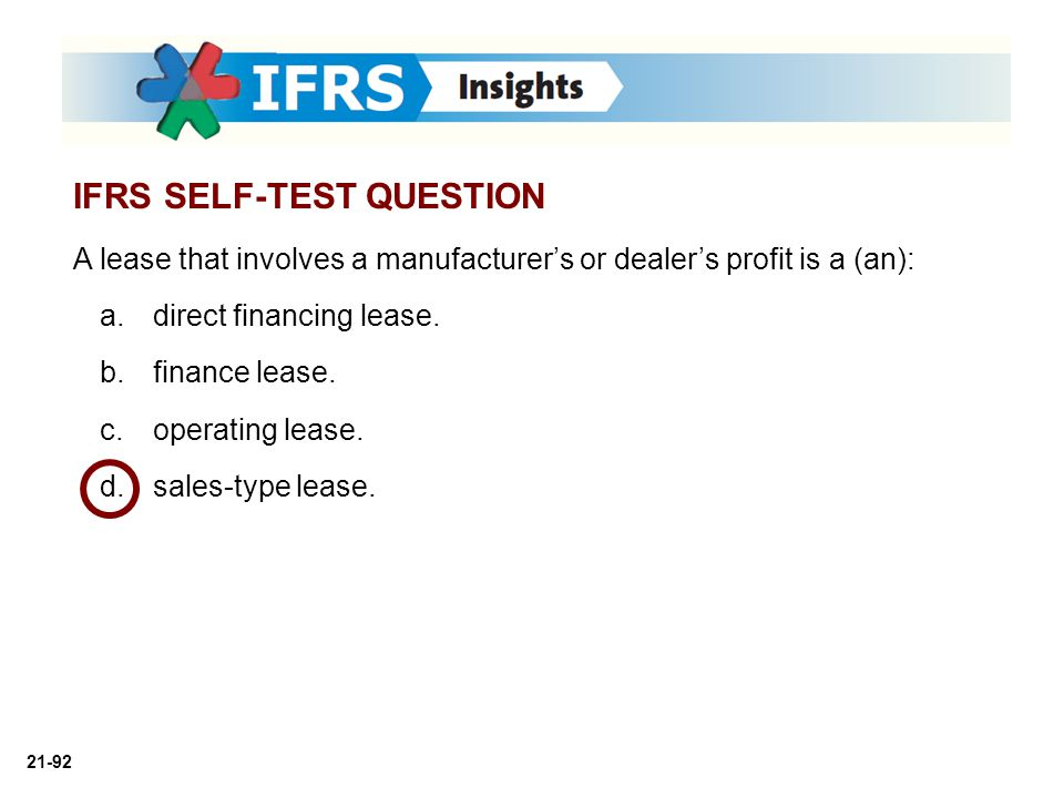 IFRS SELF-TEST QUESTION