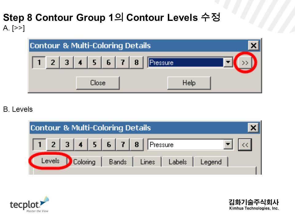 Step 8 Contour Group 1의 Contour Levels 수정
