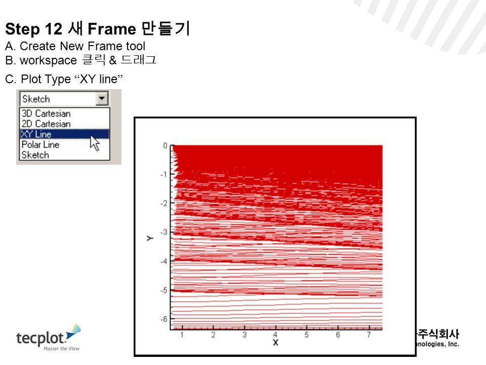 Step 12 새 Frame 만들기 A. Create New Frame tool B. workspace 클릭 & 드래그