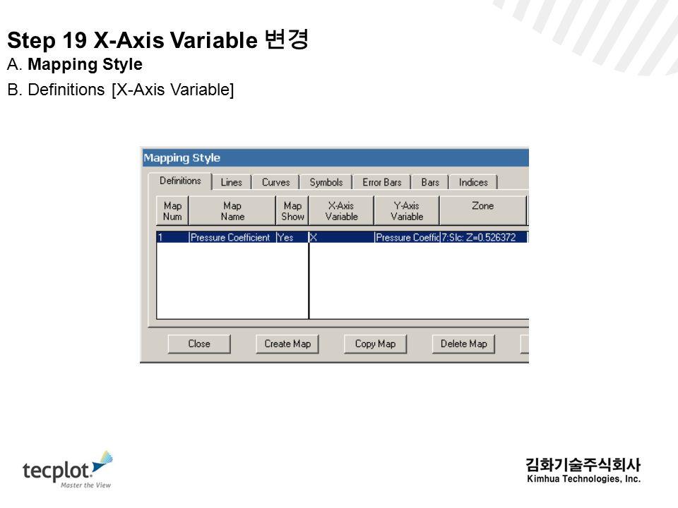 Step 19 X-Axis Variable 변경