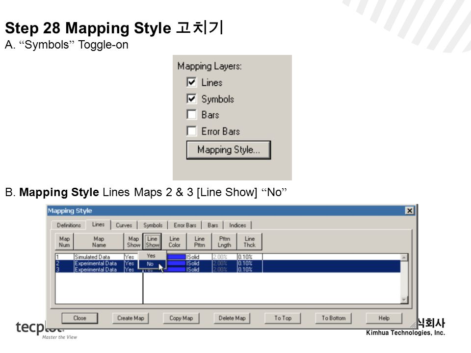 Step 28 Mapping Style 고치기 A. Symbols Toggle-on