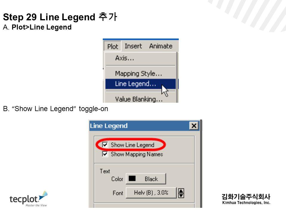 Step 29 Line Legend 추가 A. Plot>Line Legend