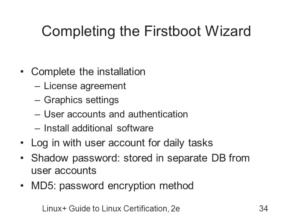 Completing the Firstboot Wizard