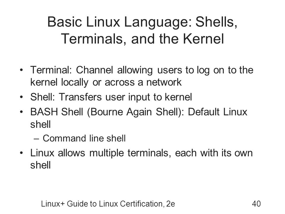 Basic Linux Language: Shells, Terminals, and the Kernel