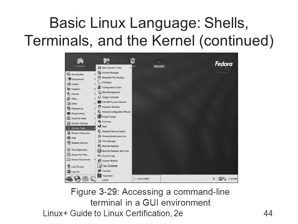 Basic Linux Language: Shells, Terminals, and the Kernel (continued)