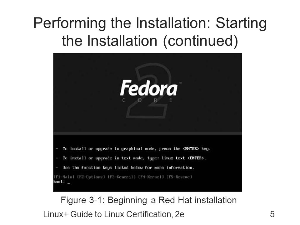 Performing the Installation: Starting the Installation (continued)