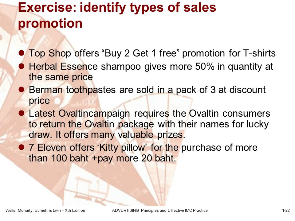 Exercise: identify types of sales promotion