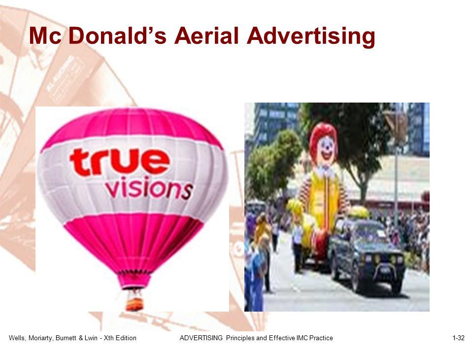 Mc Donald's Aerial Advertising