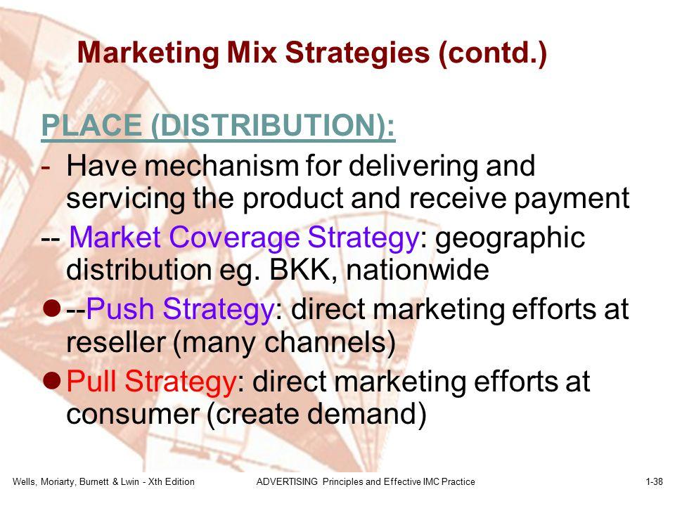 Marketing Mix Strategies (contd.)