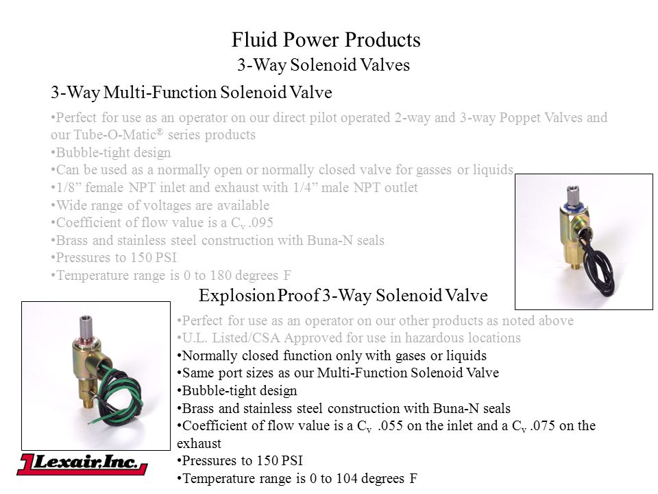 Fluid Power Products 3-Way Solenoid Valves