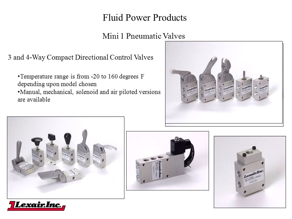 Fluid Power Products Mini 1 Pneumatic Valves