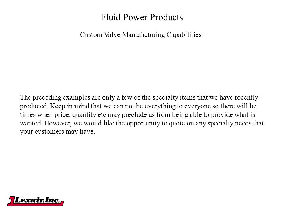 Custom Valve Manufacturing Capabilities