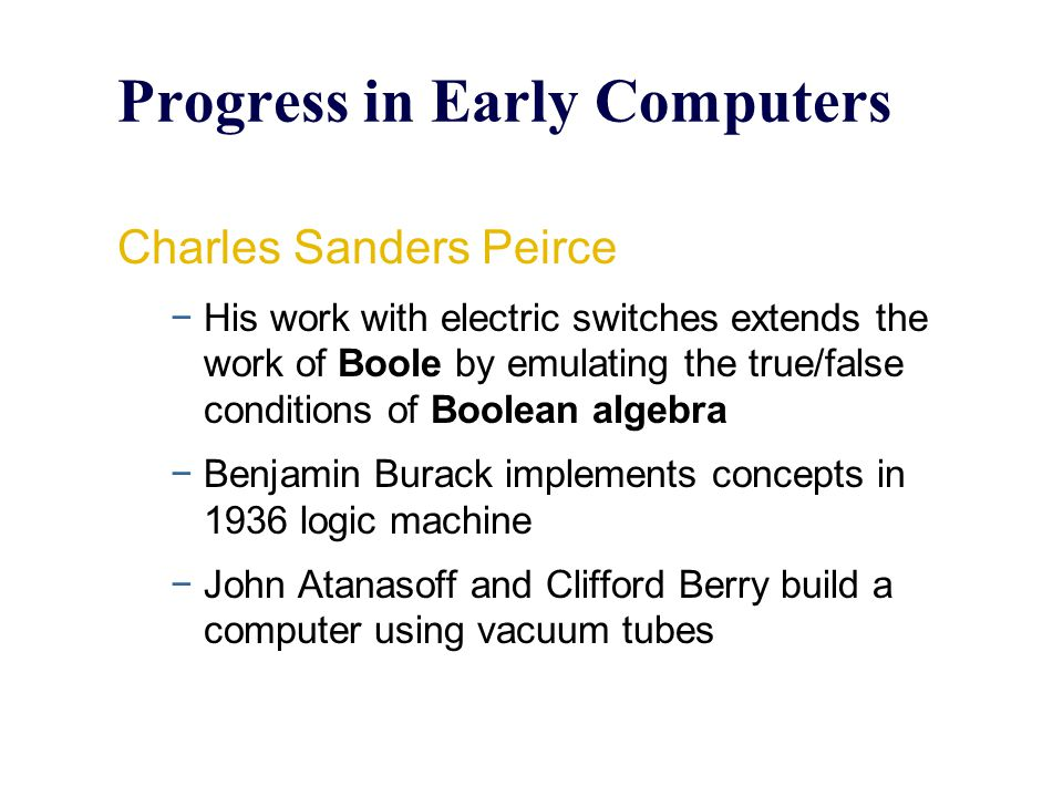 Progress in Early Computers