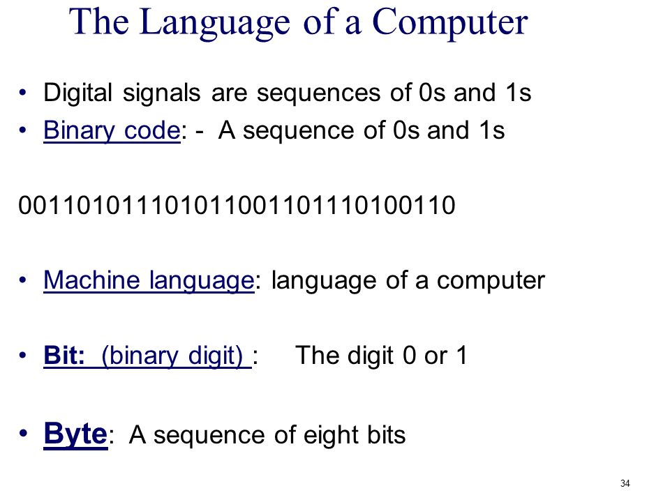 The Language of a Computer