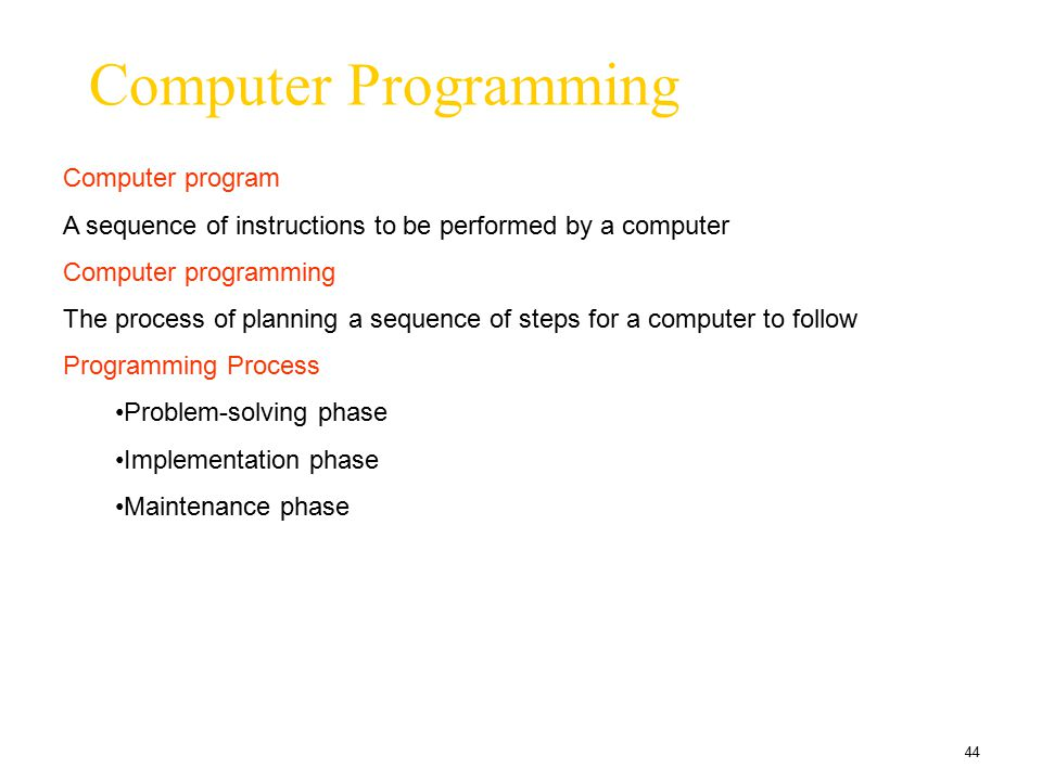 Computer Programming Computer program