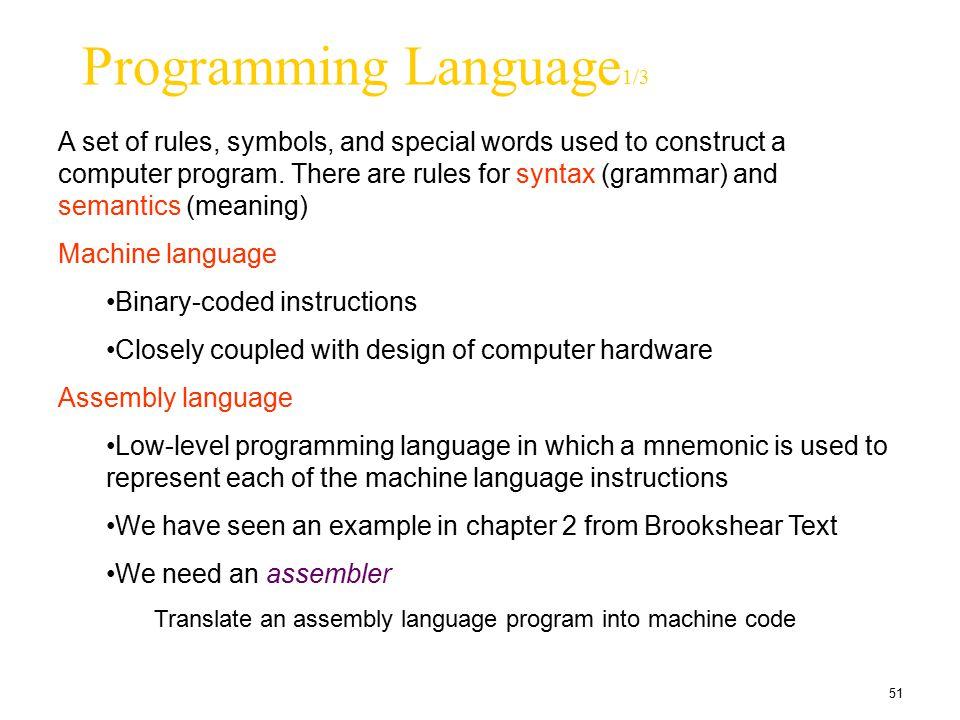Programming Language1/3