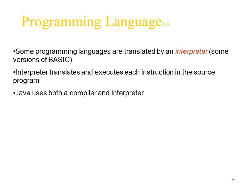 Programming Language3/3