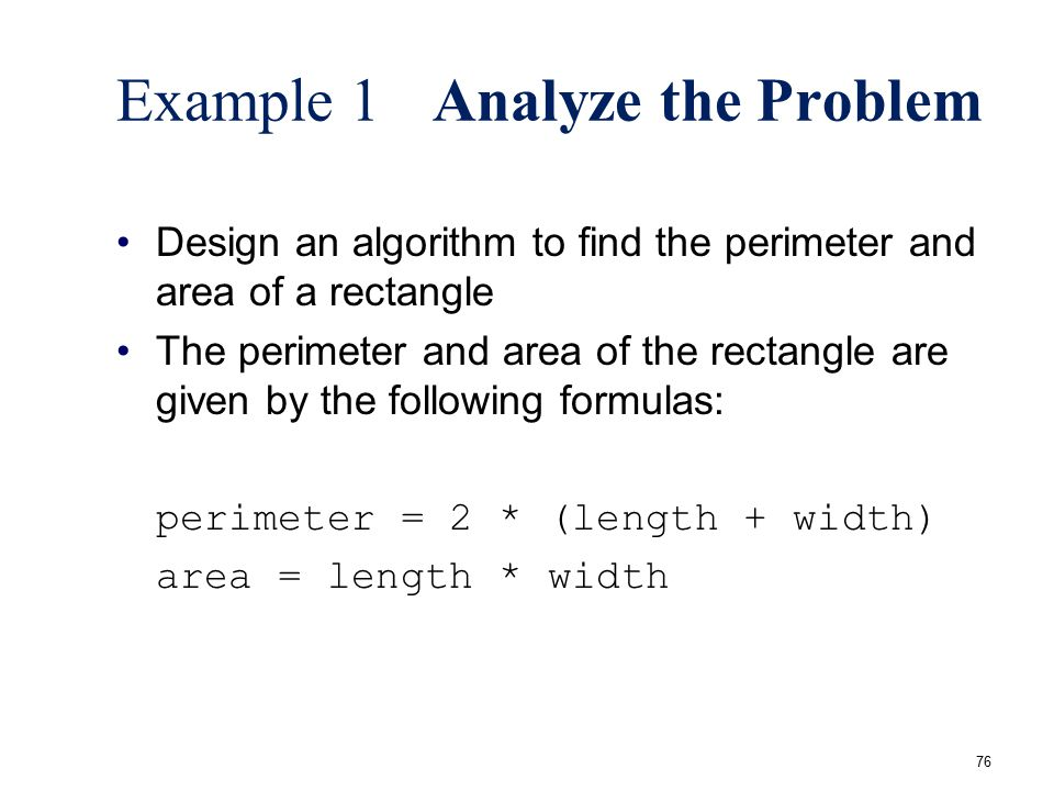 Example 1 Analyze the Problem