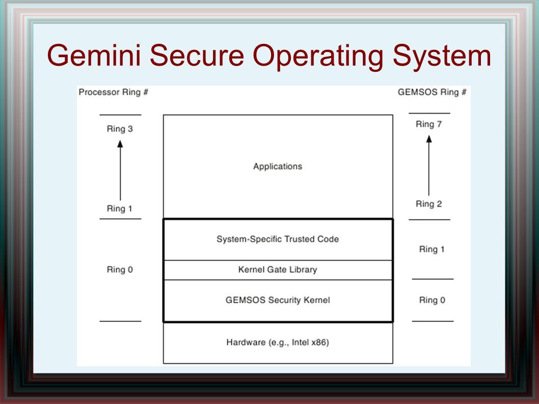 Gemini Secure Operating System