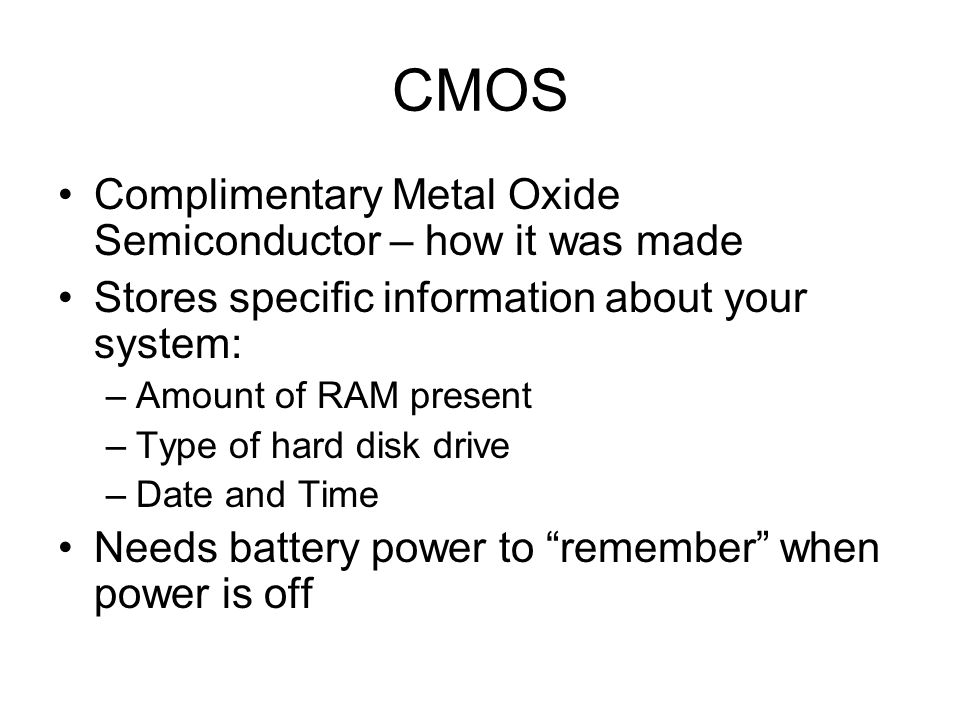CMOS Complimentary Metal Oxide Semiconductor – how it was made