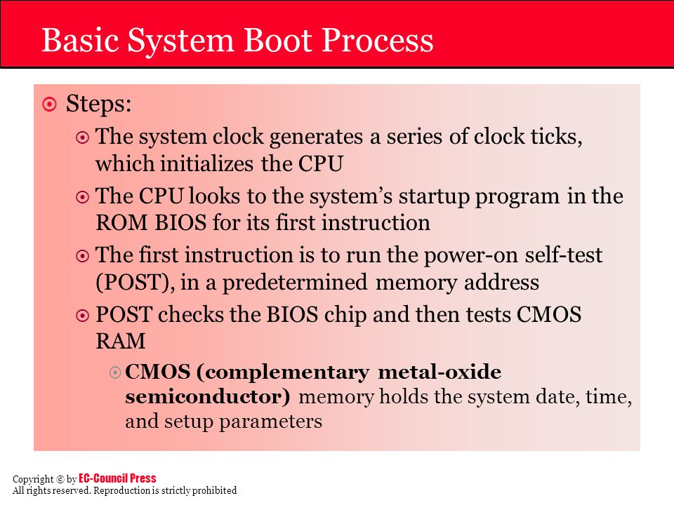 Basic System Boot Process
