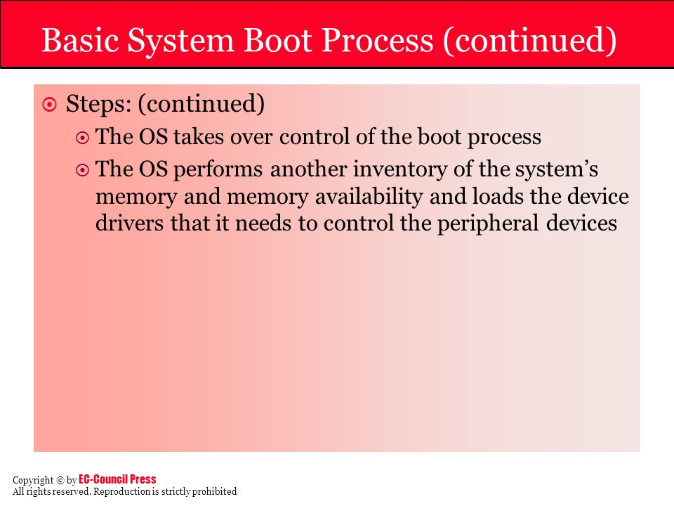 Basic System Boot Process (continued)