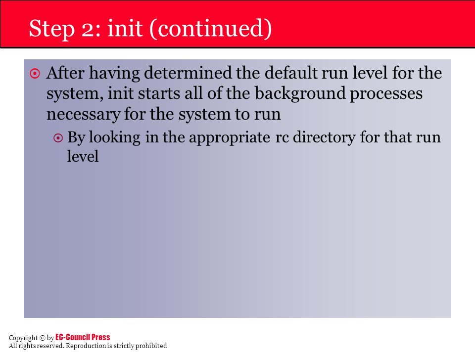 Step 2: init (continued)