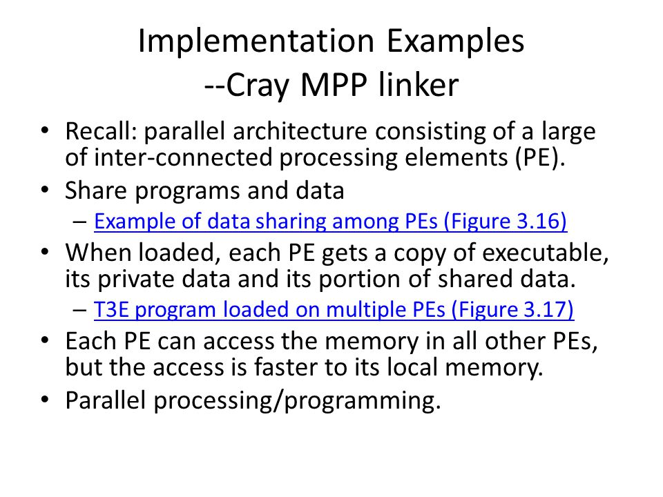 Implementation Examples --Cray MPP linker