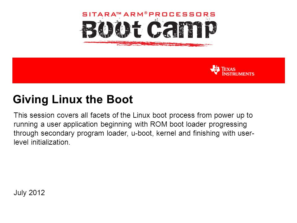Giving Linux the Boot