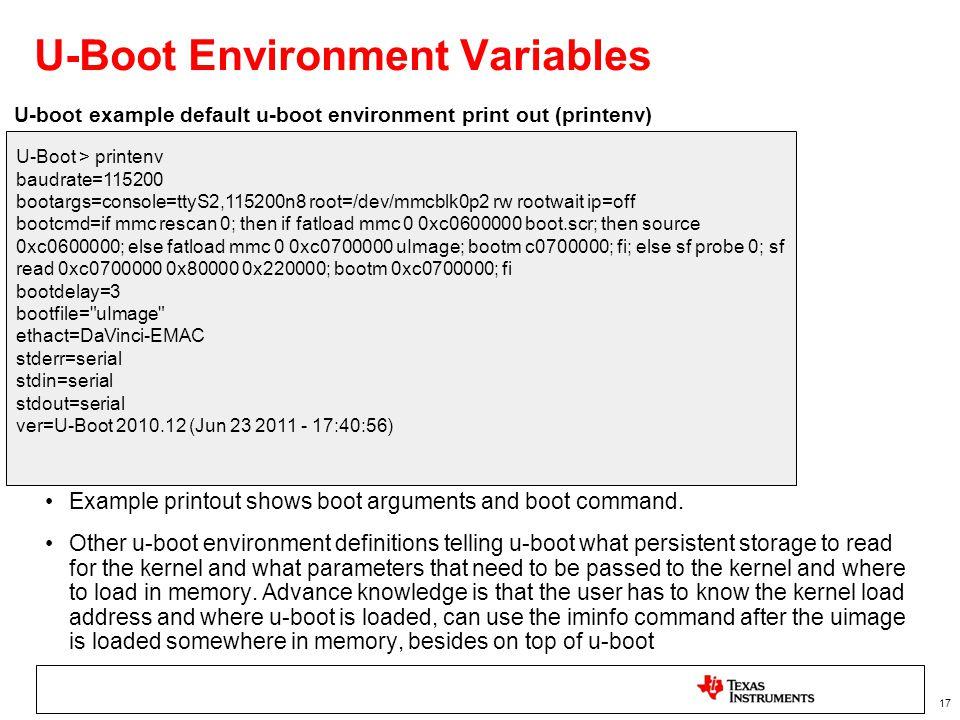 U-Boot Environment Variables
