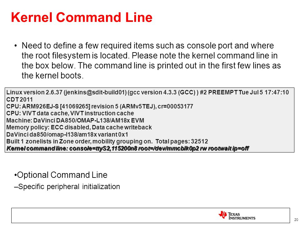 Kernel Command Line