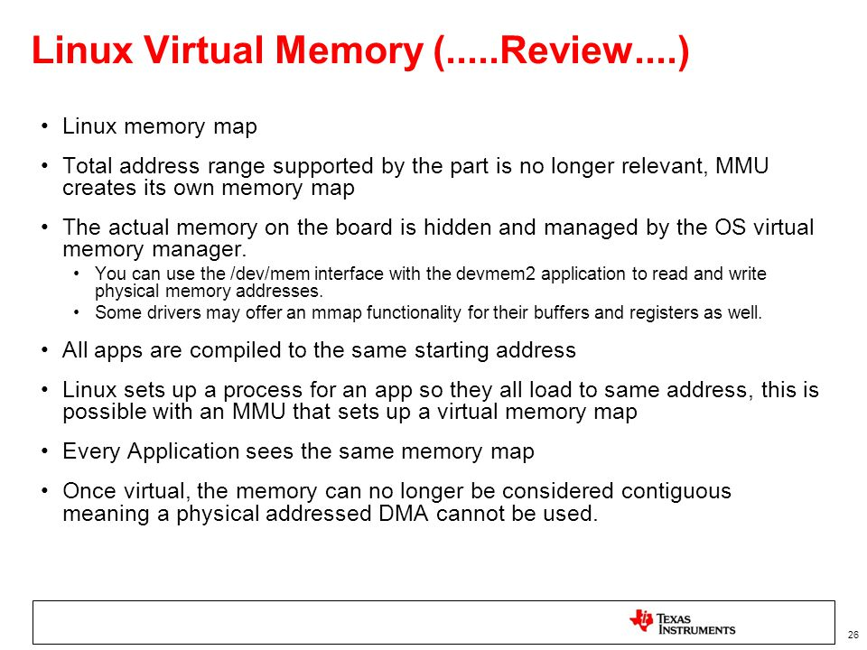 Linux Virtual Memory (.....Review....)