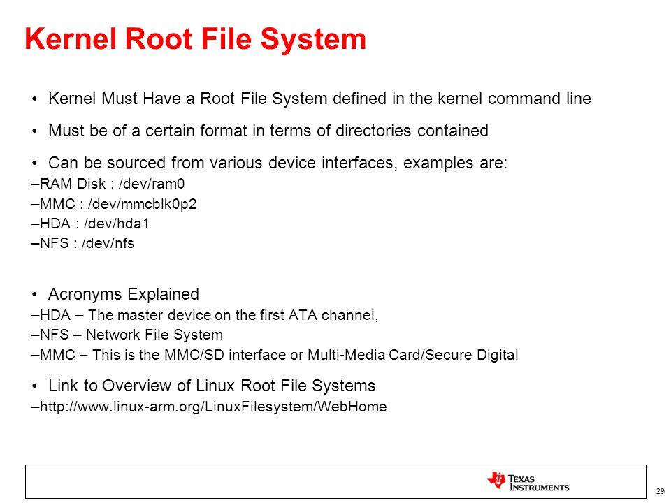 Kernel Root File System